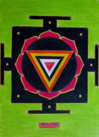 Sri Kali Yantra, artwork by Domagoj