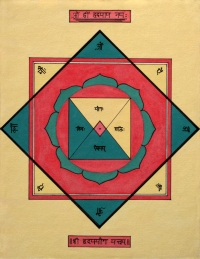 Sri Hrdaya Yoga Yantra, artwork by Domagoj