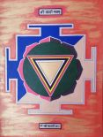 Sri Kali Yantra, artwork by Adisa (pencil, acrylic and oil marker)